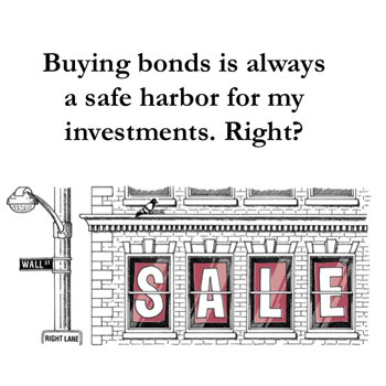buying bonds is always a safe harbor for my investments. Right?