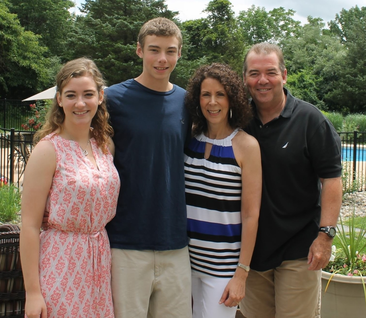 Bill spending some family time with his wife Michele, Lauren and Brendan.