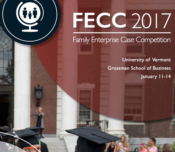 McRae Capital Management proud to share Peter McRae selected as a panel judge for the University of Vermont's prestigious annual Family Enterprise Case Competition held from January 11-14, 2017.