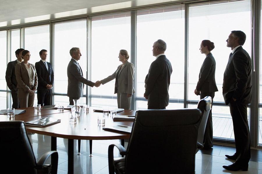 handshake and business meeting