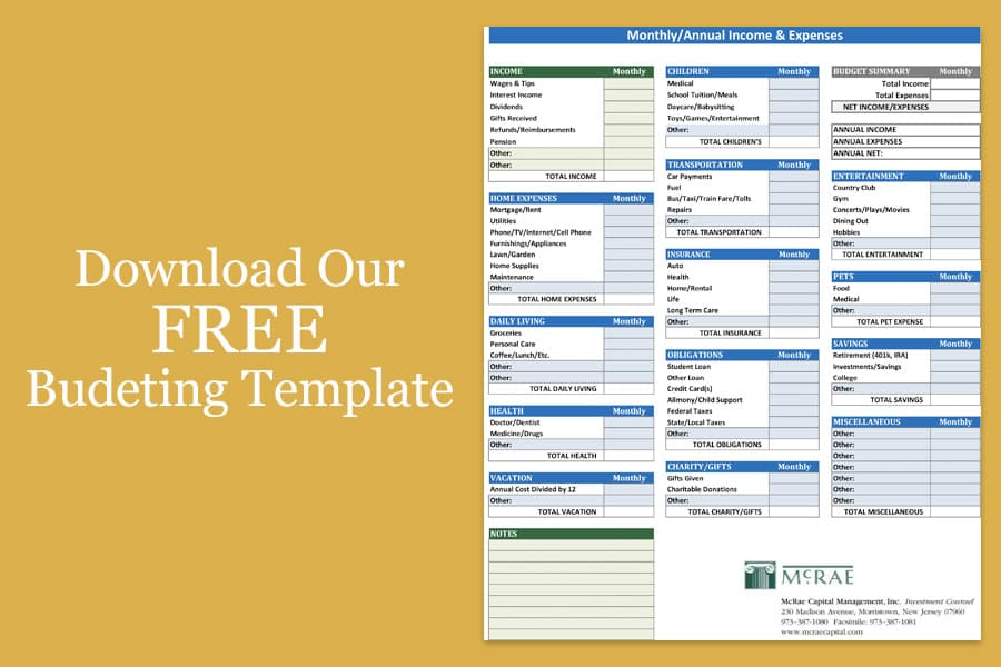 download our free budgeting template